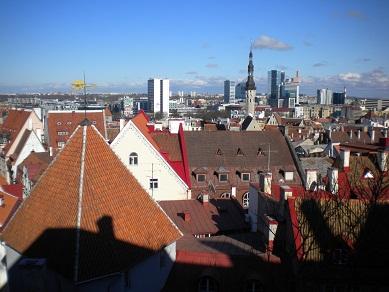 Vue sur les toits de Tallinn